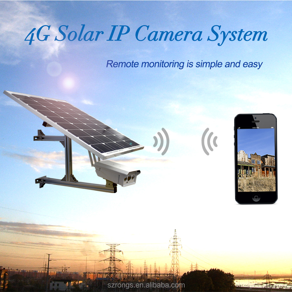 2.0MP waterproof IP66 Solar 4G SD card slot 30w solar panel wireless IP CCTV camera