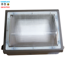 USA ETL DLC Half Cut off 100-277VAC, 60W 5000K, 6600lm LED Wall Pack