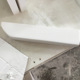 Bathroom Cultured Marble Curved Wall Mount Shower Shampoo Shelves