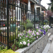 Hot sale rust free iron fence panels, galvanized steel fence for garden