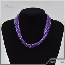 wholesale new jewelry charming purple stretch necklaces