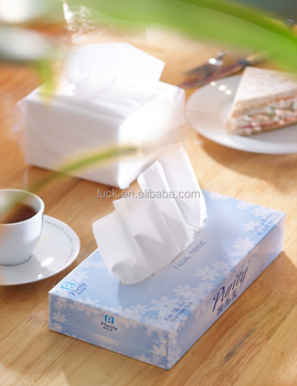 sugarcane bagasse mix bamboo 3 ply soft facial tissue