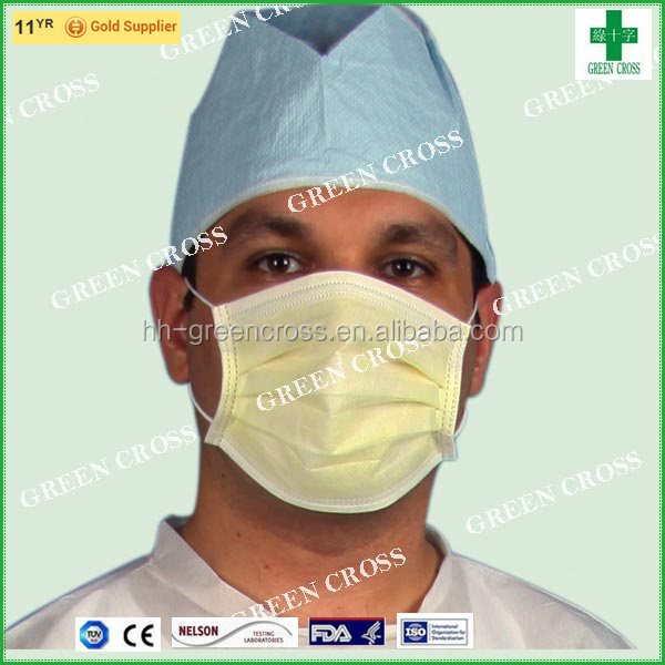 green cross surgical mask