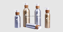 Aluminum pump spray bottle for olive oil bamboo cosmetic