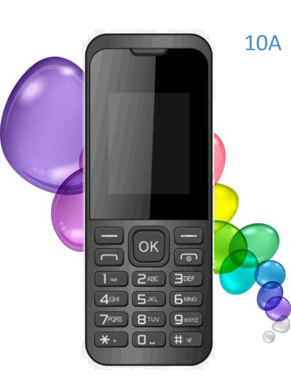 OEM 1.8 inch GSM Low cost Feature Phone Bar Type Quad Band Dual Sim Card Memory Metallic Basic Phone 10AF