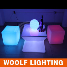 bar use furniture plastic illuminated led club chair