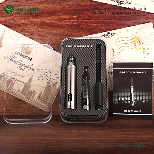New product of vapor ecig GS EgoII Mega kit e cig ego kit with low price replacement coil e-cigarette