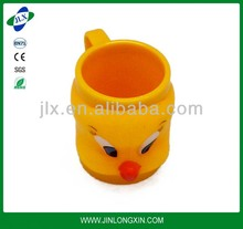 cartoon plastic water cartoon picture cup insulated plastic coffee mugs with handles