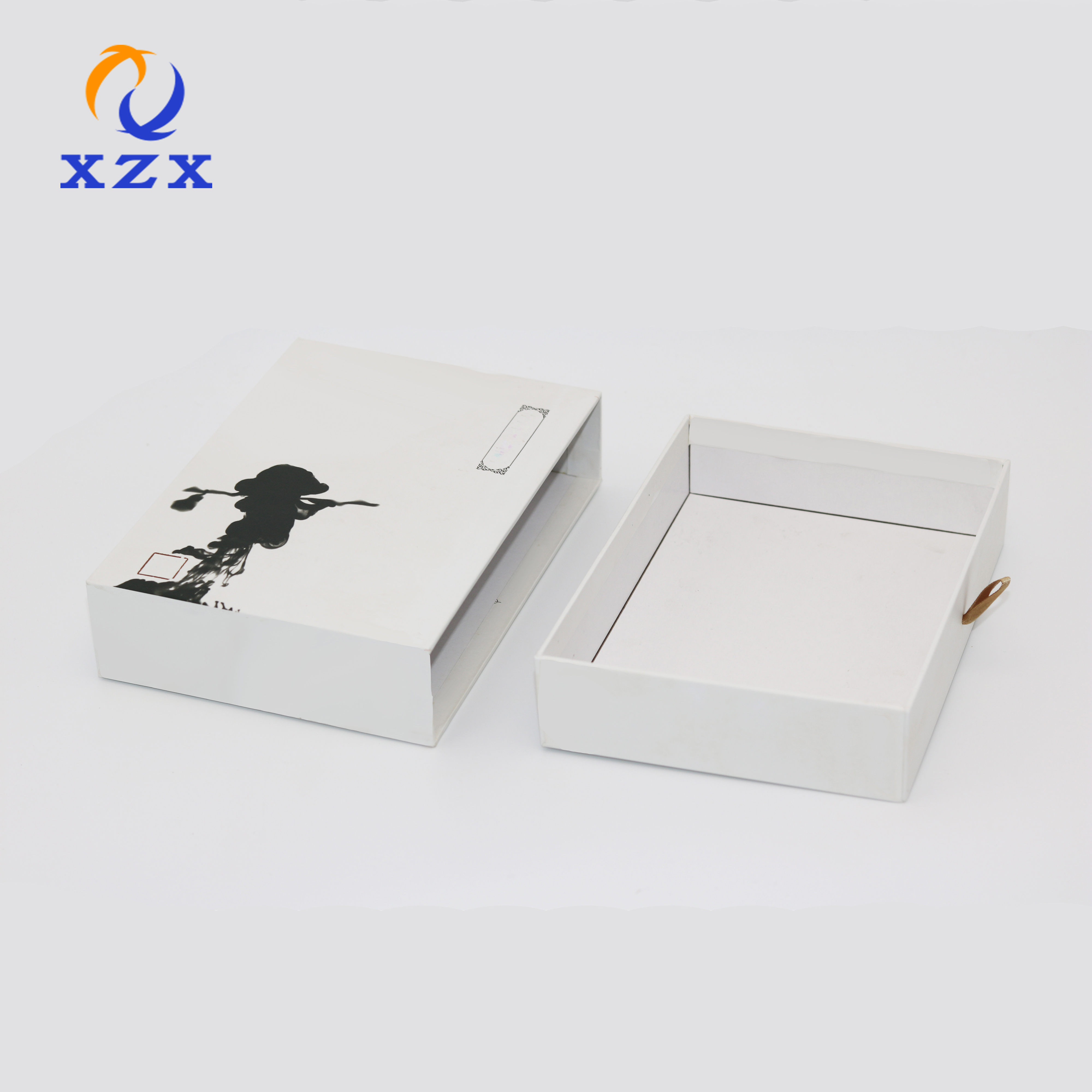 Customize luxury white drawer paper box paper kraft paper slide box