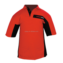 Wholesale cheap breathable red safety shirt for worker