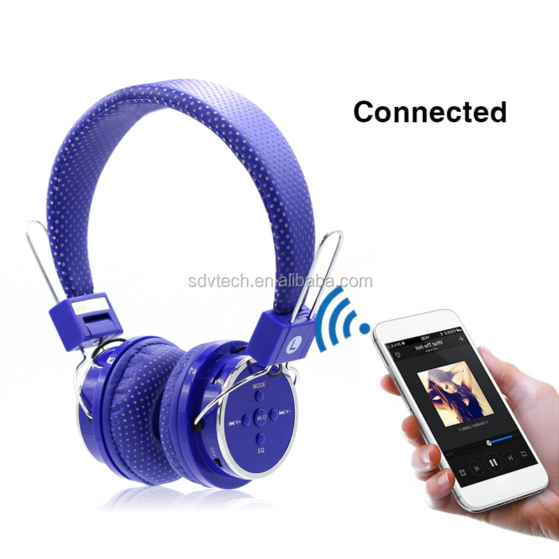 Over ear wireless bluetooth headset bluetooth headphone for mobile phone