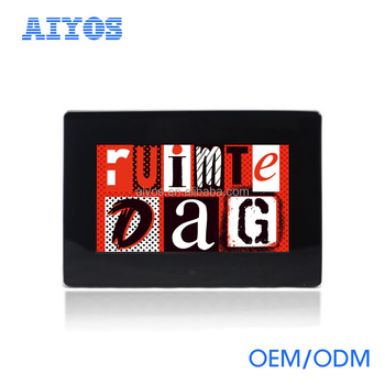 Mirror frame 7inch video mp4 digital picture frame with remote control