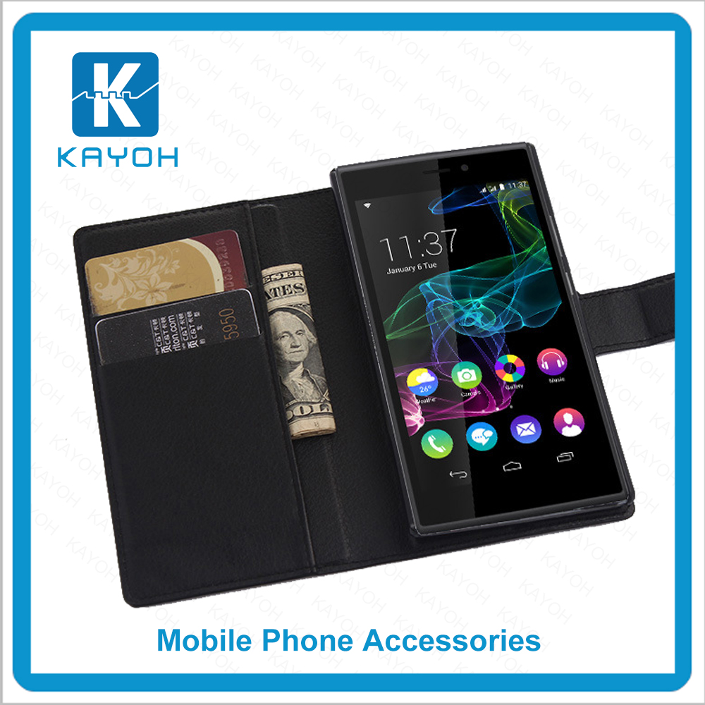 [kayoh]for Wiko Ridg 4G case cover, wallet leather mobile phone case for Wiko Ridg 4G
