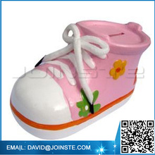 Ceramic money safe box shoe shape money box saving bank money saving box