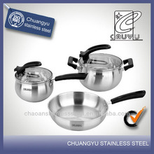 stainless steel stove induction heating cookware