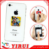 Microfiber screen clean sticker for mobile phone