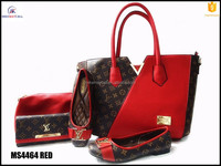 Italian flat MS4464 RED latest design lady shoes temperament glamour fashion italian shoe and bag set