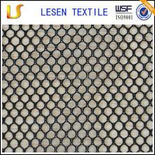 Lesen textile plain dyed 100% polyester stiff mesh fabric for bag or jacket