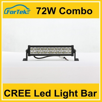 72w 24pcs combo headlamp double row car led light bar led work light bar