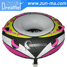 Inflatable pvc flying towable inflatable water ski snow tube
