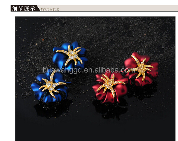 light rose painting earrings,hot rose chain earrings,red color high quality earrings! wholesale