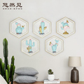 Hot selling metal flamingoes art decoration room wall hanging decor