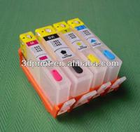 Empty Refillable ink cartridge with auto reset chip for HP5525(HP670)