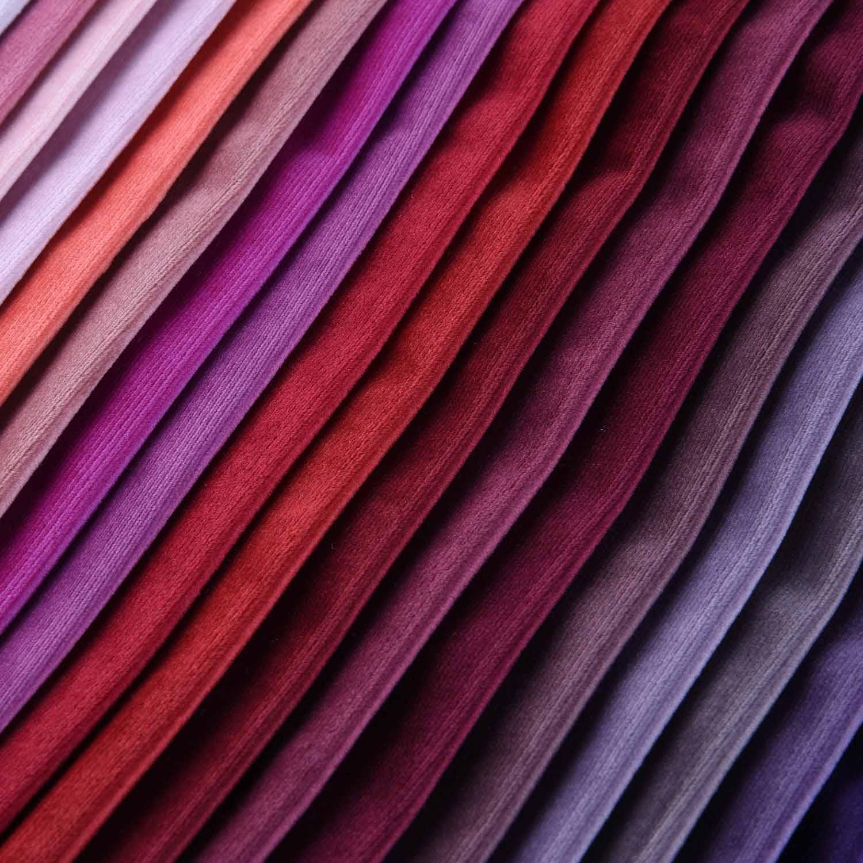 100% Polyester Plain Velvet Auto Upholstery Fabric 145CM Width