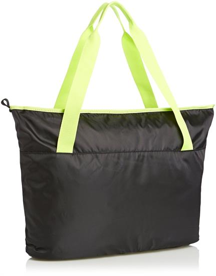 Wholesales black quilted polyester shopping tote bag