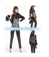 NEW SEXY PVC LEATHER LOOK CATSUIT CLUBWEAR COSTUME DRESS BONDAGE