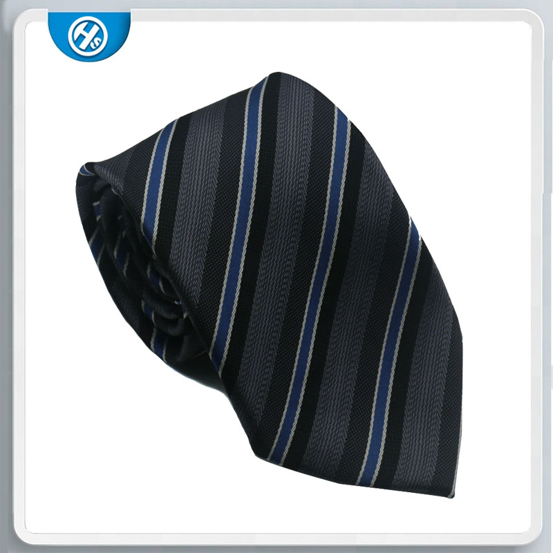 Hot Sale Fashion Design Label Fabric Printed Polyester Necktie