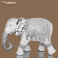 2016 hot sale indoor home decor large size elephant statue with resin material