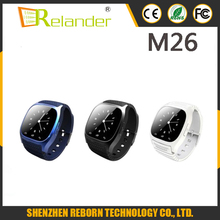 2016 new fashion M26 bluetooth smart watch with pedometer/Altimeter/work with IOS and Android Mobile