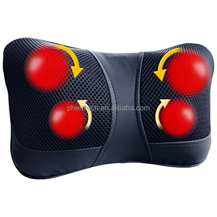 Portable Full body Head Back Neck Rolling Kneading Massager/Shiatsu Massage Pillow
