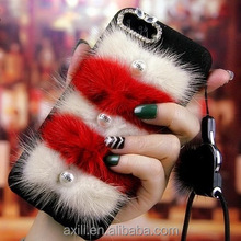 Luxury Fox Fur Pearl Soft TPU Back cover Phone Case For iPhone 6 6S 7 Plus