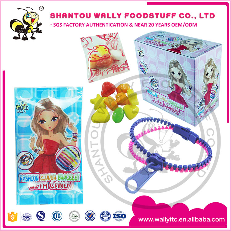 ZIPPER BRACELET CUTE TOY CANDY
