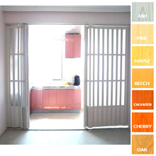 Decorous design PVC plastic interior folding doors,interior plastic rolling sliding doors, PVC folding door Folding Slide Door