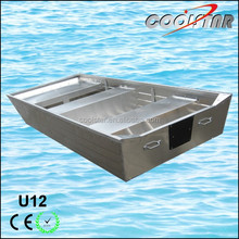 2.0mm thickness flat bottom 12ft aluminium fishing boat hull