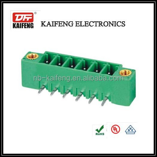 3.5mm 3.81mm right angle terminal blocks double line electrical connector for pcb KF222R pluggable terminal block