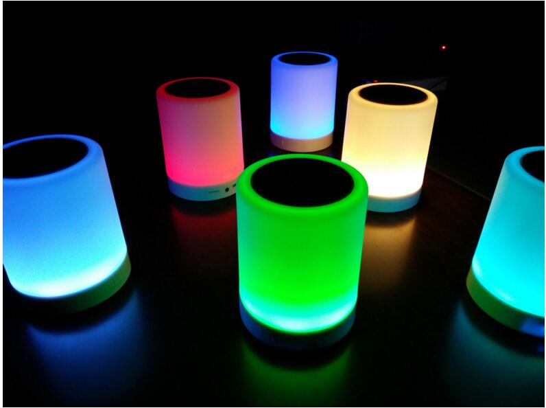 new 2017 inventions night lamp led bluetooth wireless speaker