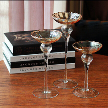 glass Material candle holder goblet like