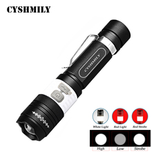 CYSHMILY Adjustable Focus Waterproof Battery 18650 Included Professional Lighting Rechargeable USB Led Flashlights