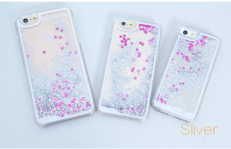 Liquid Glitter Bling Star Quicksand Phone Case for iPhone 5s,Shinning Bling TPU Mobile Phone Case for iPhone 5