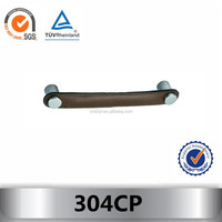 High quality leather furniture handles cabinet handle 304CP