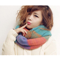 Wholesale high quality 5 color choice fashion stitching neckwear lovely magic muffler scarves