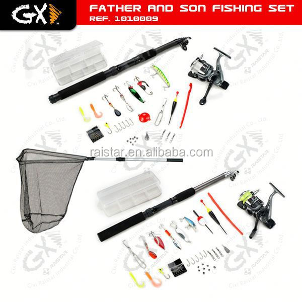 Family Fishing Tackle Father And Son Fishing Set back lead clip