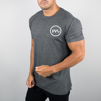MS-1992 Men Slim Fit Design Grey Workout Athletics T Shirt Custom Your Own Logo Printing