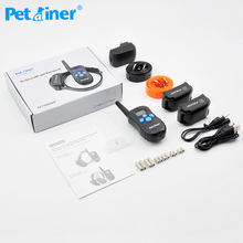 Petrainer 998DBB-2 300 Meters dog electronic shock rechargeable waterproof dog training collar for dogs