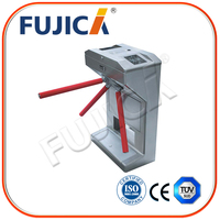 RFID card reader tripod turnstile gate for security system