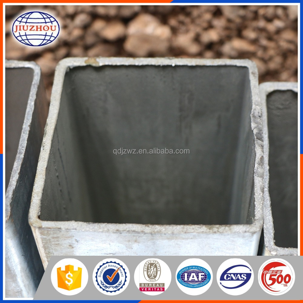Galvanized steel square pipe/tube